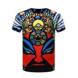 O t-shirt 100% feito sob encomenda da impressão do Sublimation 3D do poliéster do OEM com Mergulhar-Tinge-se