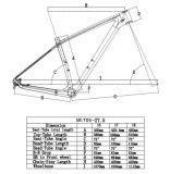 2017 frame novo da bicicleta do carbono MTB
