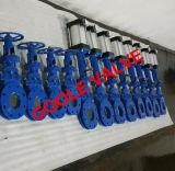 Gambo aumentante manuale/pneumatico ha flangiato valvola a saracinesca della lama (GAZ43H)