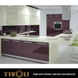 ヨーロッパデザインTivo-0186hの贅沢な食器棚の光沢度の高い台所家具