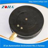 Manómetros generales de la caja de acero negra comercial de 6 pulgadas