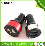 Заряжатель автомобиля USB самой лучшей оптовой цветастой передвижной батареи миниый двойной