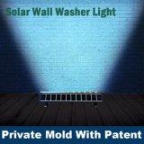 Le mur actionné solaire de bonne qualité allume le certificat de la CE de lampe de rondelle de mur de RVB