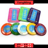 730PCS/Kristallbildschirm-Art-Schürhaken-Chipset mit in Aluminiumfall-Kasino-Chipset für 5-10 spielende Spiele Ym-Sjsy002