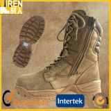 Ботинок пустыни ботинка безопасности Mens удобной кожи коровы замши дешевый воинский тактический