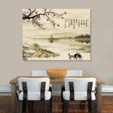 La peinture chinoise estampée par jet d'encre pour la décoration à la maison