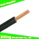 Cable de alambre de cobre eléctrico forrado PVC de Thw