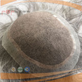 100% erstklassige Unremy Haar-graue Farben-Spitzentechnologie Qualtiy MensToupee (PPG-c-0105)