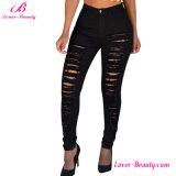 Оптовая продажа Hexin выдалбливает вне гетры кальсон джинсыов джинсовой ткани