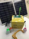 50W 12V 45ah самонаводят наборы пользы и освещения напольной пользы портативные солнечные