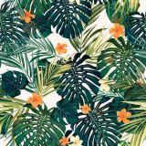 [سكس] جدار فنية [تروبيك] زهرات نوع خيش طبعة