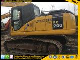 Komatsu PC200-7 excavadora de cadenas usadas de excavadora hidráulica Oringinal Japón