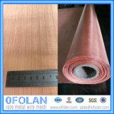 Tamanho do furo 1.0mm (200mesh) Blindagem eletrônica de sinal de alta qualidade Red Cobre Wire Mesh / Cloth 1000mm * 1000mm Stock Supply