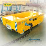 Carretilla material de la transferencia del tren de la rueda del carretón de acero pesado del carril