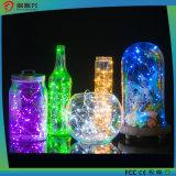 lumières décoratives de chaîne de caractères avec de mini lumières imperméables à l'eau de chaîne de caractères de câblage cuivre de DEL