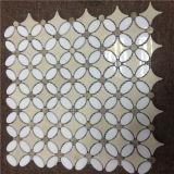 Azulejo Waterjet asteroide del mármol del mosaico para el precio de suelo