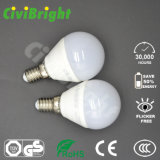 Bulbo global blanco de la alta calidad G45 6W E27 LED con RoHS