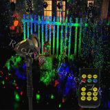 Laser Twinkling do jardim do teste padrão de estrela para a luz de Natal ao ar livre do projeto do laser das árvores