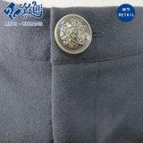 Botón negro Rear-Pockets señoras la moda pantalones largos