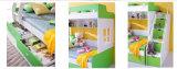 Het Houten Stapelbed van het Meubilair van kinderen met Boekenkast (HC803)