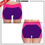 Shorts correnti delle donne dell'alto della vita dell'OEM cotone di forma fisica