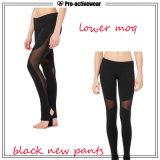 Los pantalones por encargo de la yoga de las más nuevas muchachas del diseño venden al por mayor las polainas de la yoga del desgaste de la gimnasia de la alta calidad con insignia de encargo