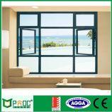Finestra di vetro della stoffa per tendine di alluminio di profilo di sistema di Rochetti con lo standard australiano