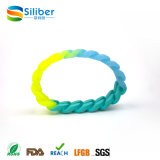 Faixa de pulso do silicone do bracelete de /Silicone do bracelete de Paracord do estilo da torção