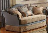 Insieme antico americano del sofà con il blocco per grafici di legno & la Tabella classica impostati per il salone