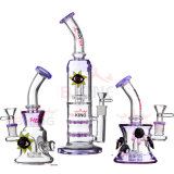 Hb King 2017 Nouvelle Arrivée Wholesale Oil Rigs Glass Bubbler Tabac Pipe Recycler Beaker Base Glass Smoking Pipe