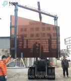 5mm-10mm 착색된 훈장 Topo 유리제 건물 분홍색 유리 (C-P)