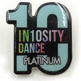La impresión personalizada 10 Aniversario logotipo insignia de solapa para regalo (NB-01)
