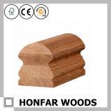 Corrimano di alta qualità della scala di legno solido della quercia rossa per costruzione
