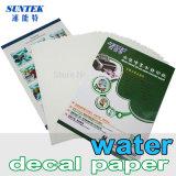 Papel de transferencia de agua para vidrio de cerámica Copa de taza de plástico Vela