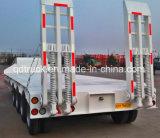 中国は3つの車軸60tonsにLowbedの頑丈なトレーラーを半した