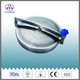 Sanitary Stainless Steel Round Outho Manhole Cover with Blue Handle (No. NM13013)