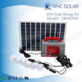 Portátil de tamaño mini 20W Sistema de Iluminación Verde Solar