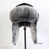 人のための冬ののどの毛皮のわな猟師の帽子