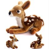 Joli animal en peluche de poupée assis Deer jouet en peluche