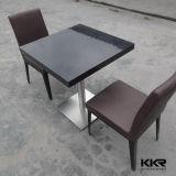 Tabelle e presidenze di pietra acriliche nere del ristorante di Kingkonree
