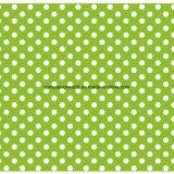100%Polyester druckte grüner Punkt Pigment&Disperse Gewebe für Bettwäsche-Set
