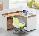 Moderner Sitzarbeitsplatz der Möbel-Melamin-Büro-Tabelle-4 (HX-NCD322)