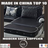 イタリアの居間の家具(LZ-069)のための上のグレーンレザーのソファー