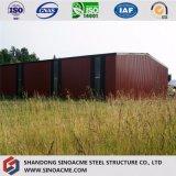 Construction de structure métallique de coût bas de la Chine/entrepôt/cloche préfabriqués de mémoire