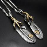 Ethnique Hommes 316L en acier inoxydable collier pendentif bijoux à la mode