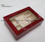 Met de hand gemaakte Glanzend High-End beëindigt de Houten Doos van de Verpakking van Juwelen/de Doos van de Gift