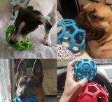Jwの幾何学的な球の飼い犬のおもちゃの小さい中・大型犬ペットトレーニングの製品のための自然で無毒なゴム製球のおもちゃの咀嚼のおもちゃ