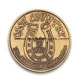 로고를 가진 둥근 주문 금속 메달