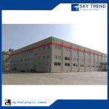 Estructura de acero industrial de la construcción