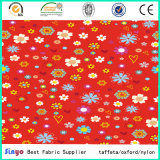 Geen Witte Afgedrukte Stof van de Polyester van de Mode van pvc Veelkleurige Bloemen